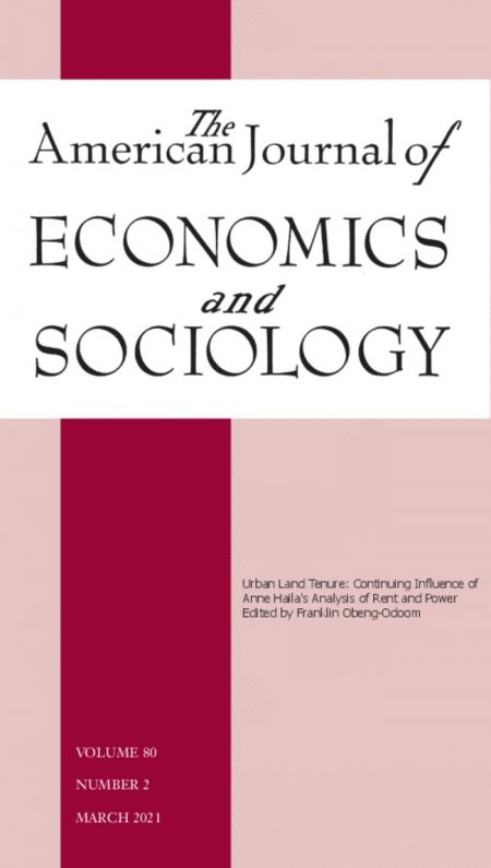 American Journal of Economics and Sociology launches a special issue in honour of Anne Haila (1953–2019)