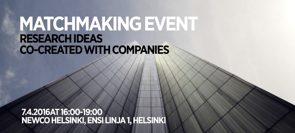 Matchmaking Event 7.4.2016_University of Helsinki