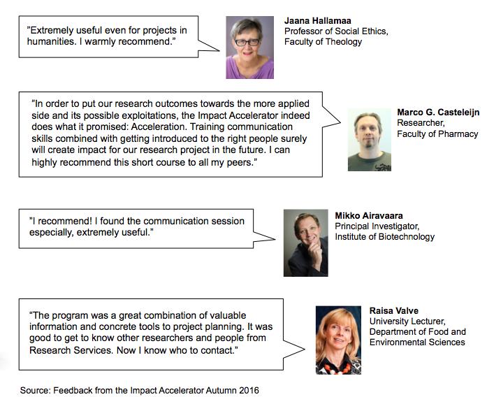 Recommendations-Impact Accelerator-University of Helsinki