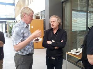 Prof Järvinen (left) at the OpenIFS meeting.