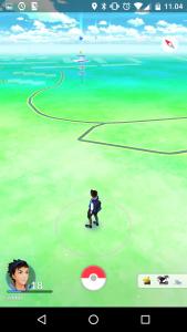 Pokémon Go:n karttanäkymä