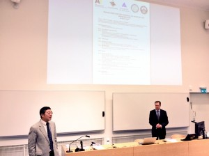 Professor Qin Tianbao and Professor Ari Ekroos