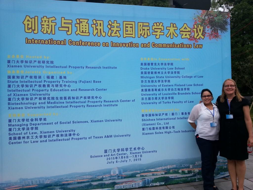International Conference on Innovation and Communications Law Xiamen University – China, 6-7 July 2015