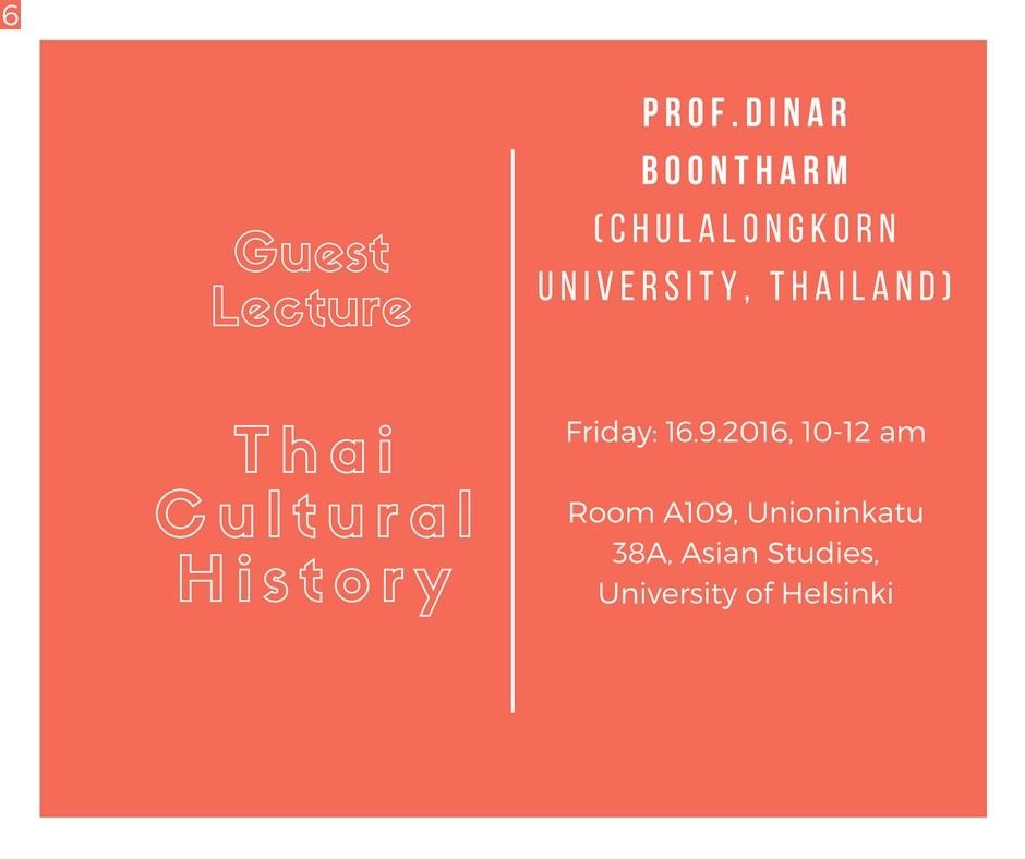 Thai Cultural History