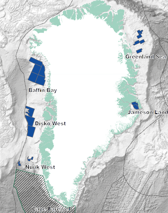 Currently there are 17 active exploration licences in five different sites in Greenland, Annual Report 2015, Nunaoil AS