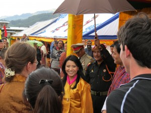 Photo 2. Her Royal Highness Ashi Chimi at the opening ceremony