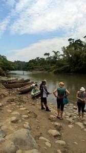 Getting ready for the canoe trip to Sarayaku