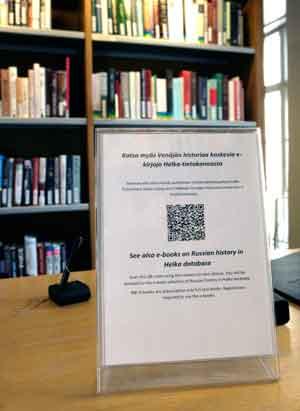 Tiedote Venäjän historiaa koskevista e-kirjoista: QR-koodissa valmis haku