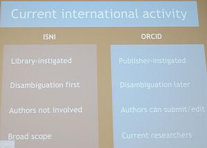 Amanda Hill: ISNI vs. ORCID -vertailu