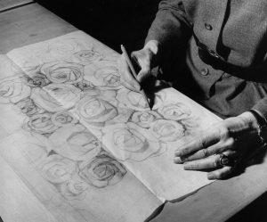 sata ruusua, piirtävä käsi LJP, Yrjö Taurovaara, Helsinki