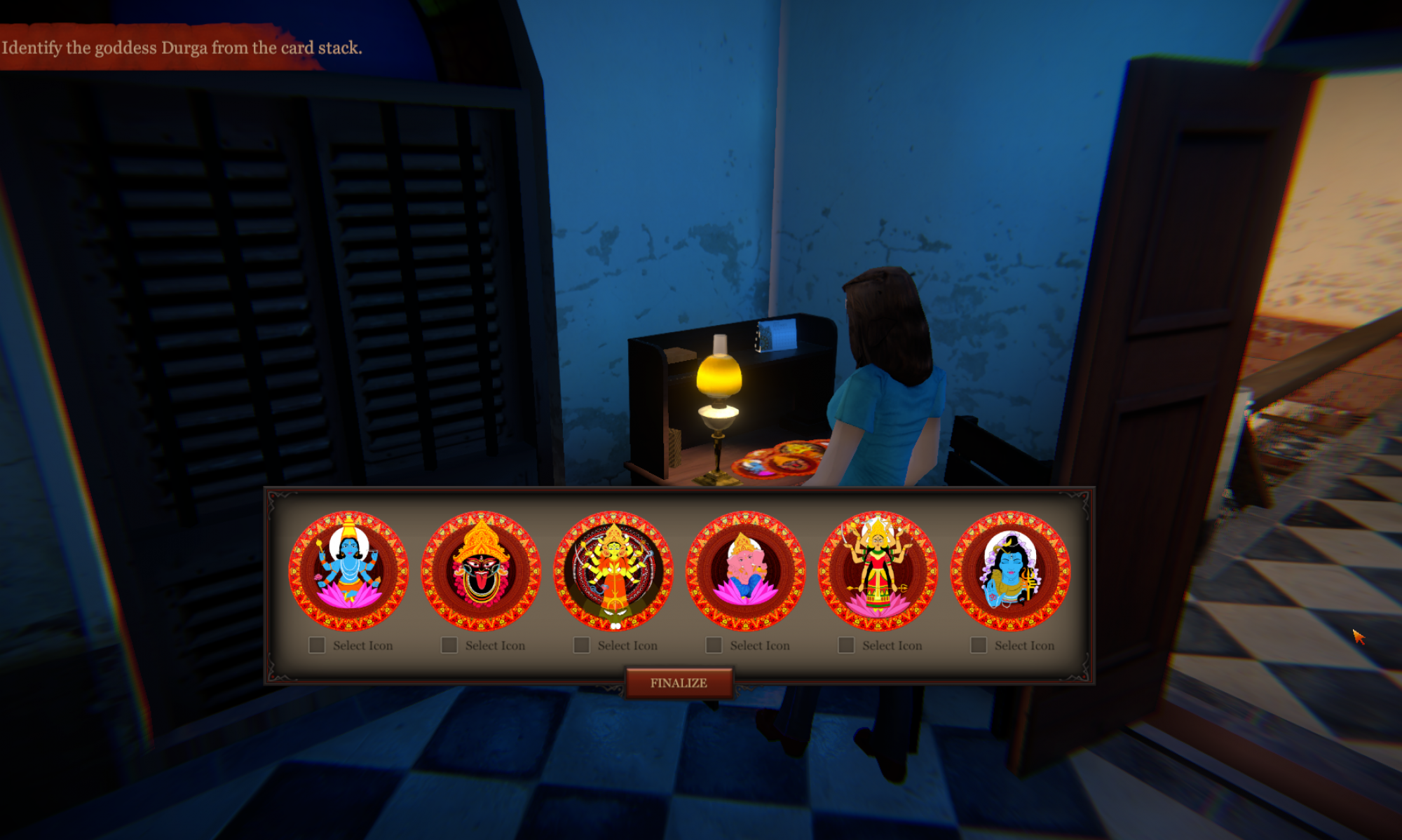 The Durga Puja Mystery. An Educational Video Game