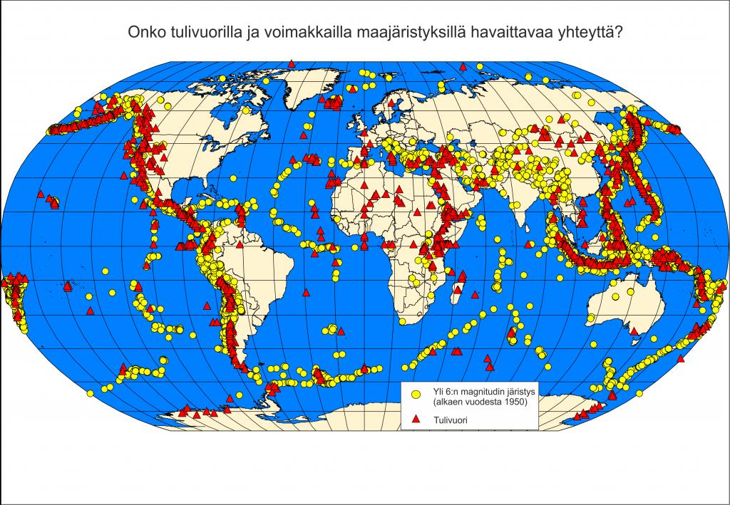 Maanjäristykset ja tulivuoret