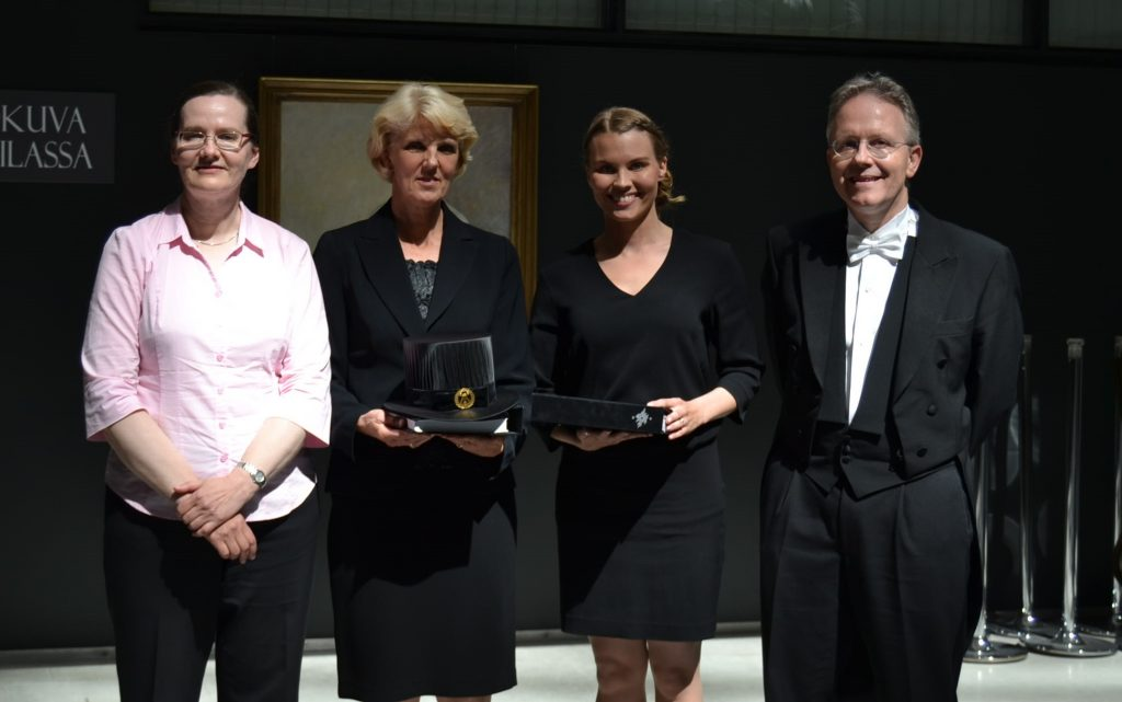 Prof. Päivi Peltomäki, Prof. Minna Nyström, M.Sc Satu Valo and Prof. Karl Heinimann