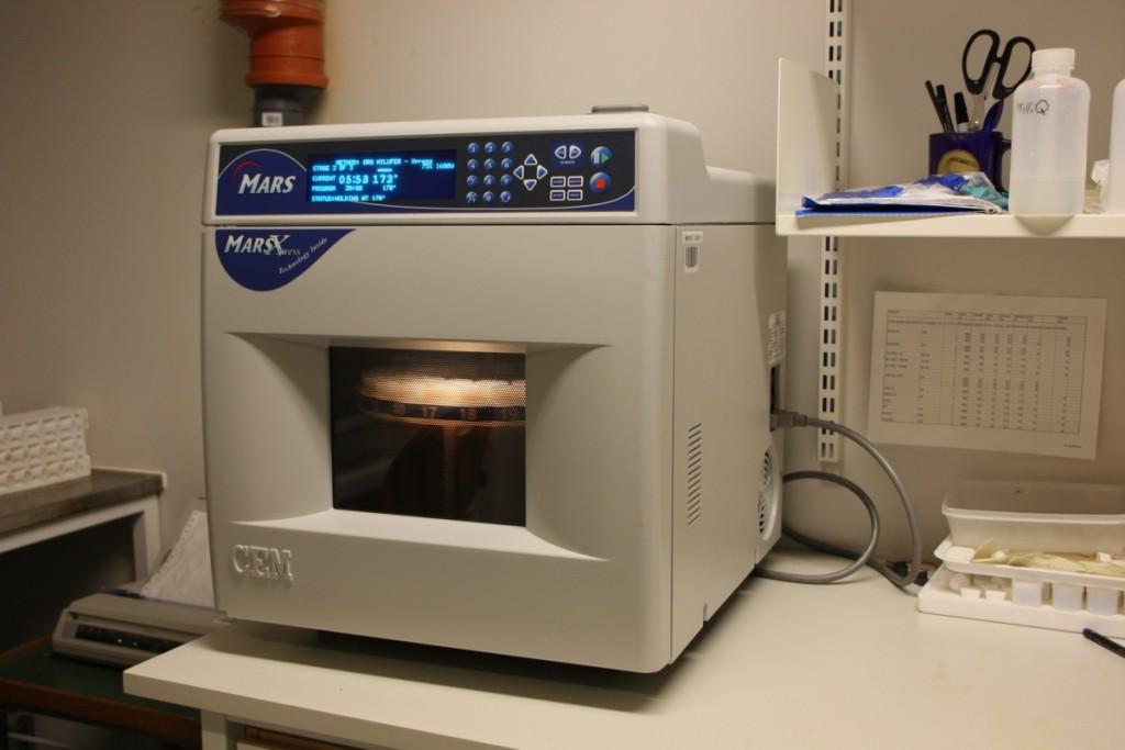 Microwave digestion