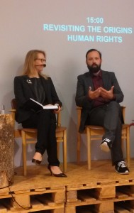 Jacob Giltaij and Miia Halme-Tuomisaari at the book launch.