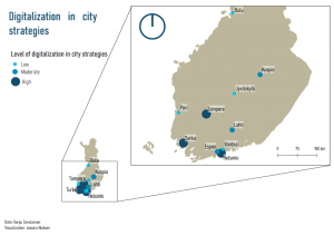 """The level of """"smartness"""" in the strategies of the 10 biggest cities in Finland"""