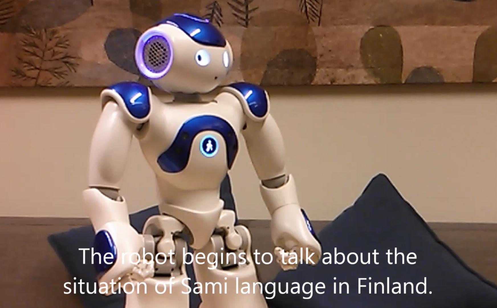Sami-speaking robot