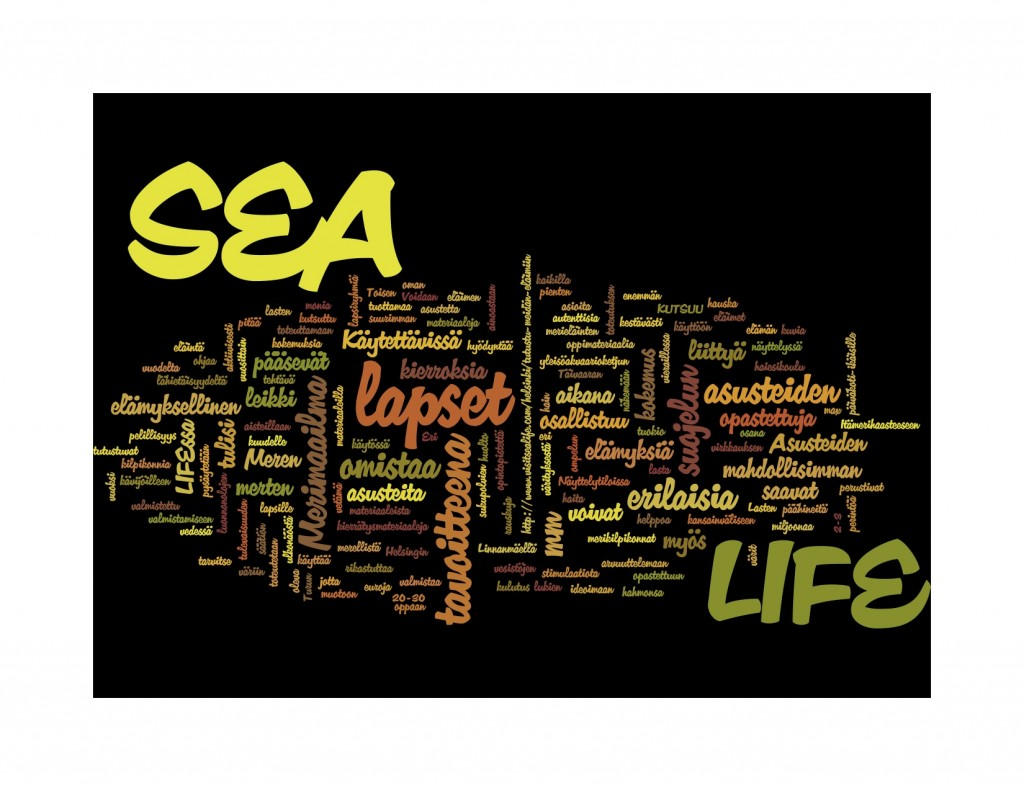 Design challenge autumn 2014 - word cloud by Wordle.