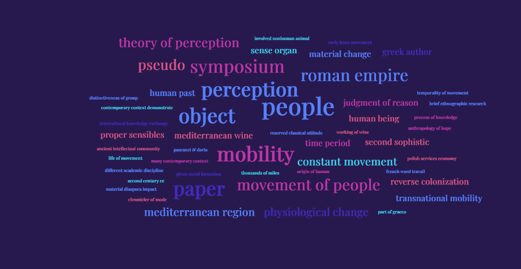 "This word cloud made of all the abstracts of the conference displays the word ""people"" as the unifying element of the diverse presentations."