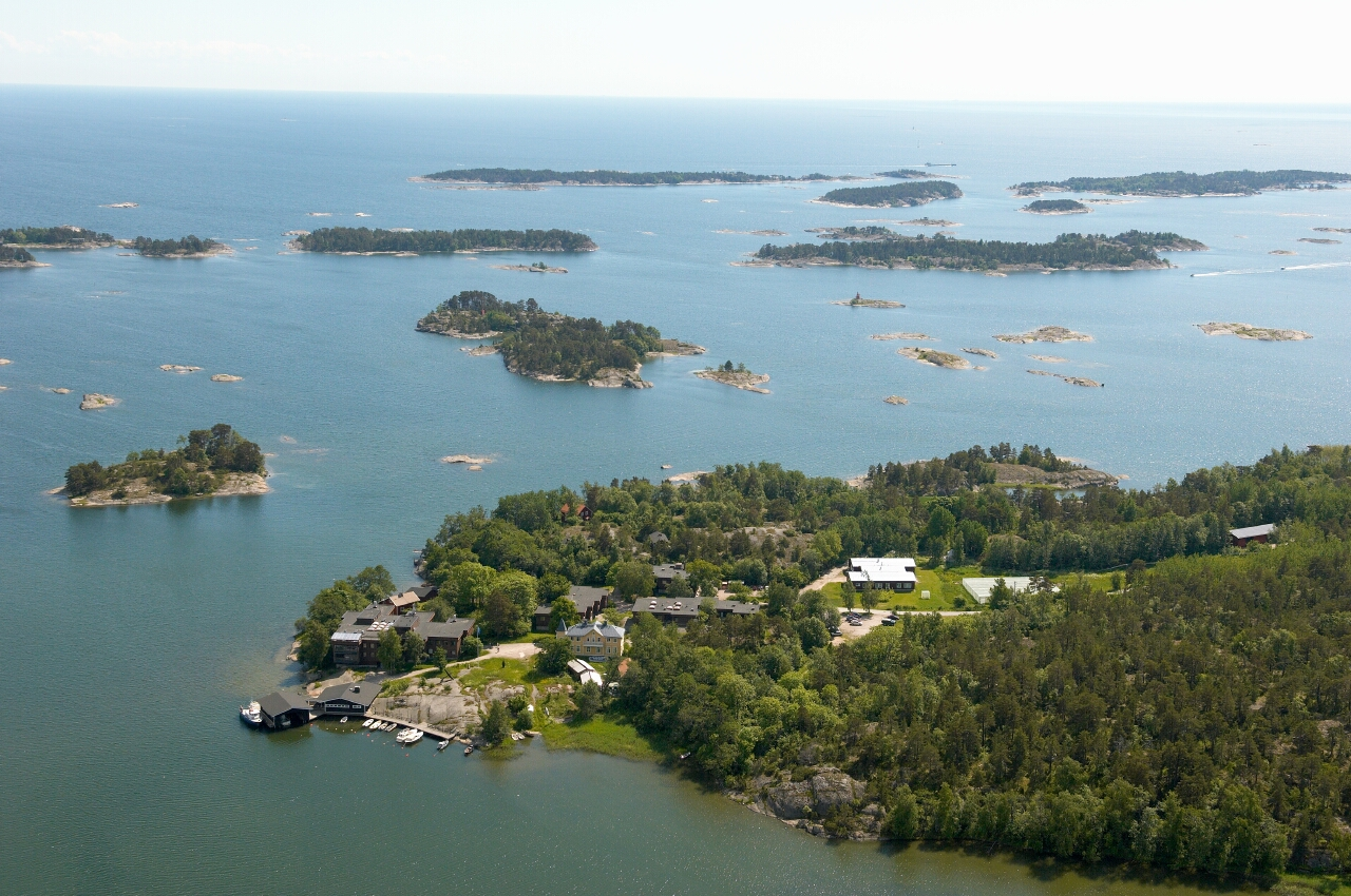 Tvarminne from the air in the summer