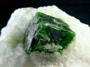A pargasite crystal