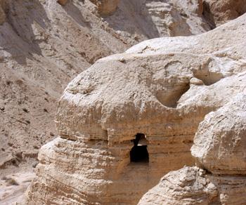 Qumranin luola 4 (kuva: Juhana Saukkonen)