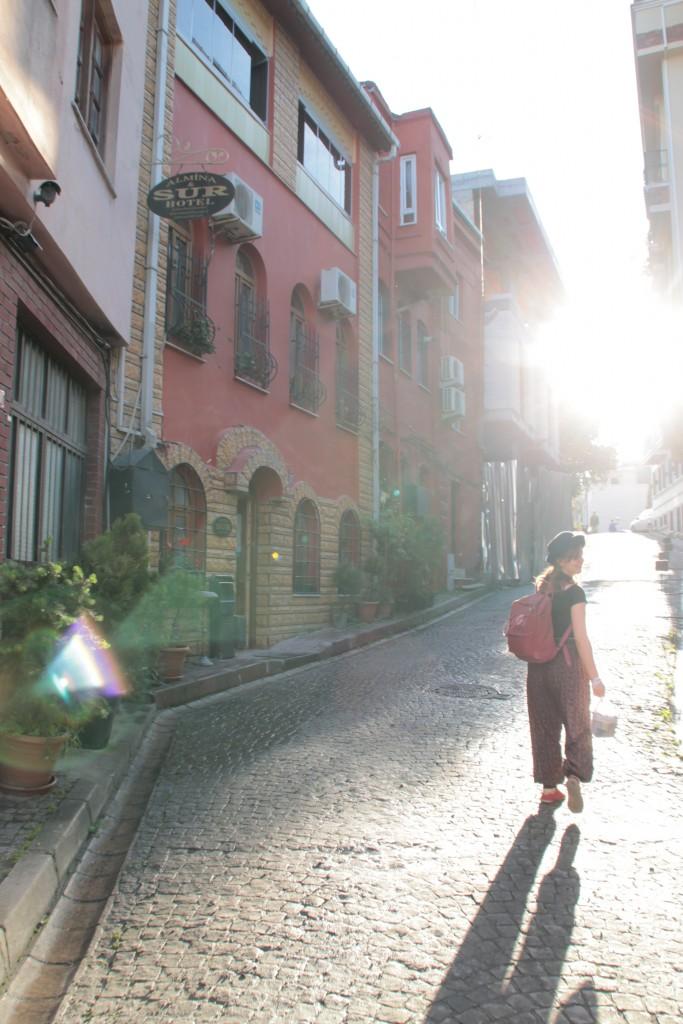 Fint väder och många smala gator att utforska.