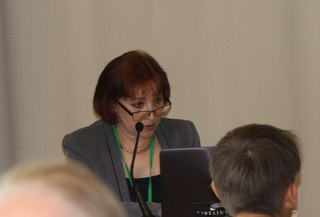 Marina Fedina speaks at the 7th World Congress of Finno-Ugric Peoples. Picture by Elvira Kuklina.