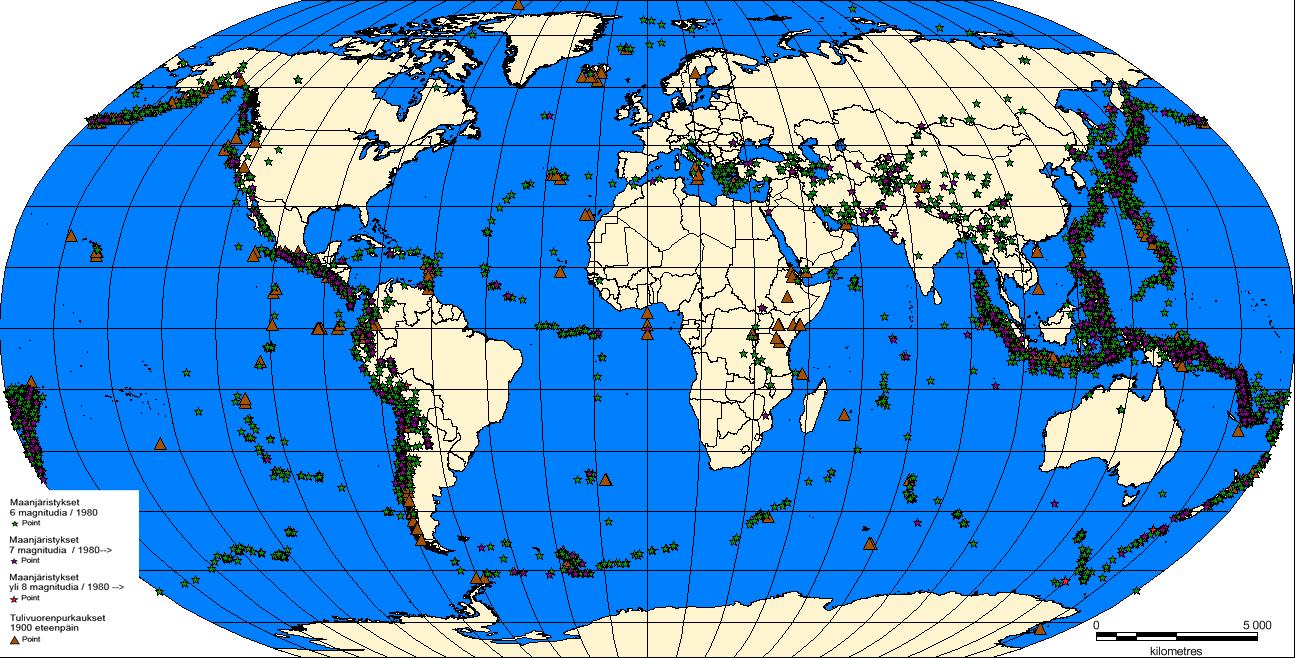 Maanjäristyksettulivuoretkaikki