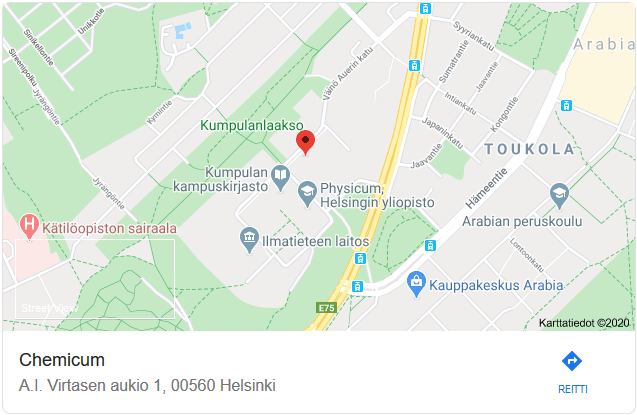 Linkistä siirryt Google Maps -palvelun navigointiin.