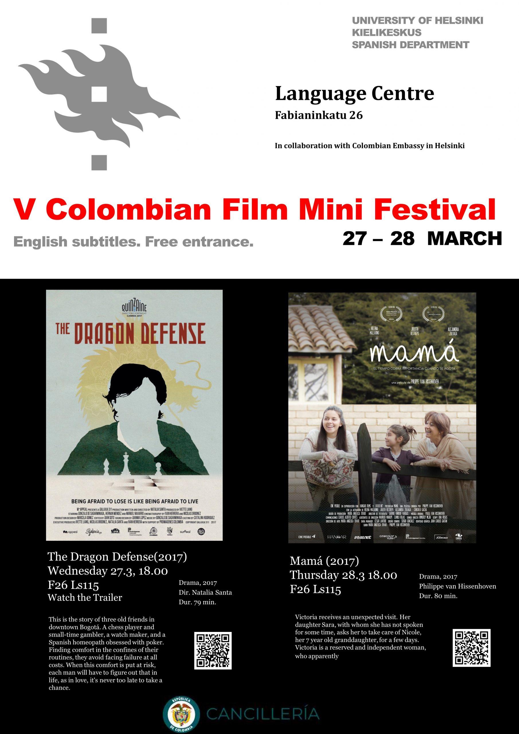 Kolumbialaisen elokuvafestivaalin juliste