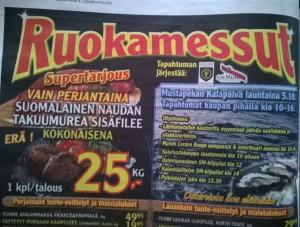 K-supermarket Mustapekan lehtimainos