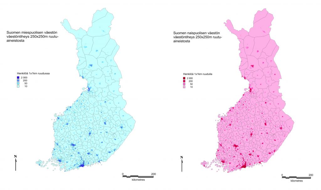 Miehet ja naiset Suomessa