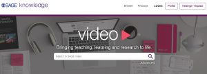 Videoiden hakulaatikko > Bringing teaching, learning and research to life - Search in SAGE video