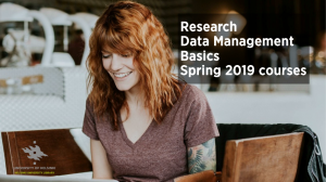 Research Data Management spring 2019 courses