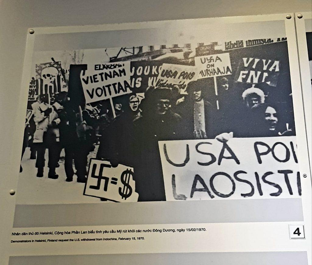 Vietnamin sodan vastainen mielenosoitus Suomessa