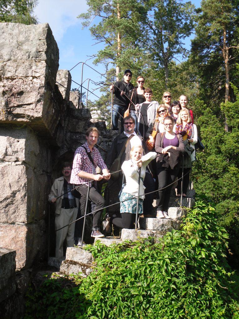 Aulanko stadspark hörde också till programmet under Skalds höstexkursion till Tavastehus2013.