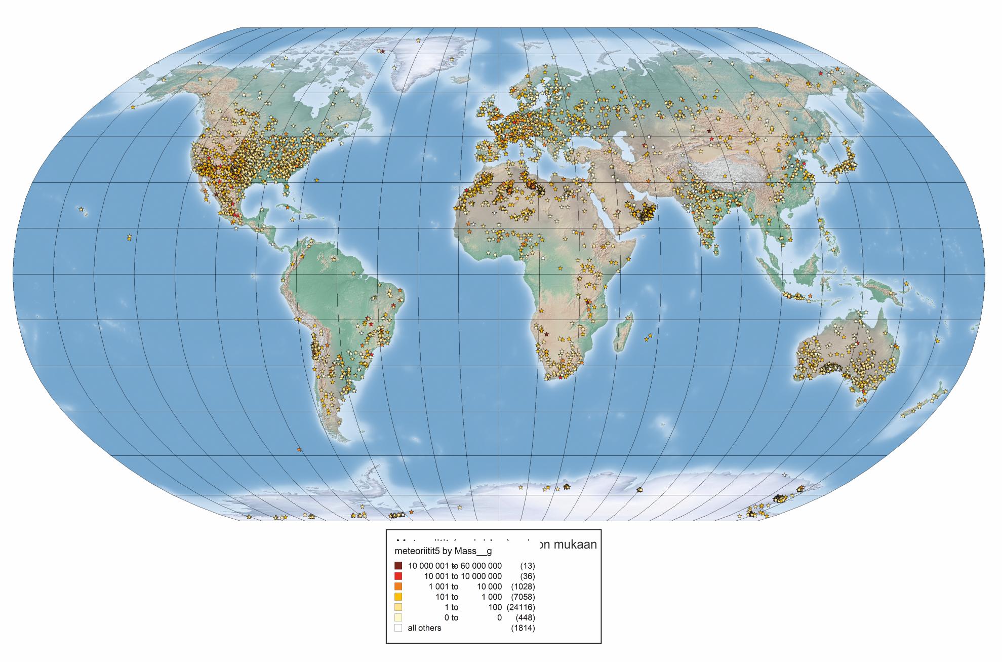 Maailman meteoriittikraaterit