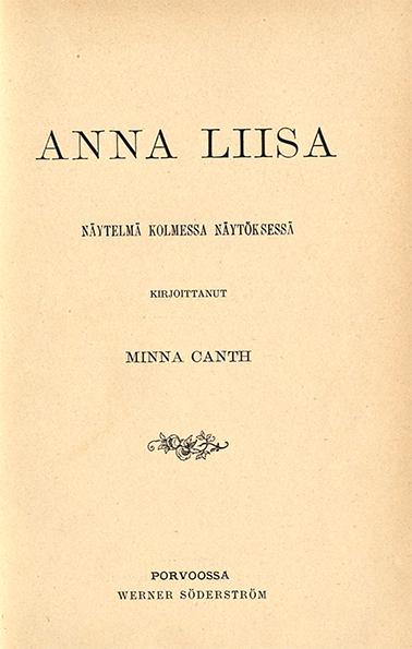 Minna Canth Anna Liisa