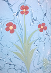 Kukka sinipohjalla
