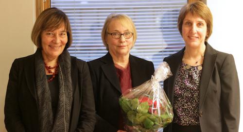 Three professors: Anna Mauranen, Irma Taavitsainen and Minna Palander-Collin