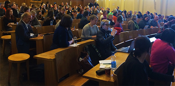 Audience of Trudgill's lecture on March 18th