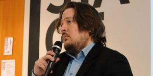 Digitaaliset ihmistieteet -tapahtuma Helsingin yliopistolla maaliskuussa 2015. Kuva Anni Jakobsson.