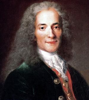 Nicolas de Largillièren maalaus Voltairesta vuodelta 1718