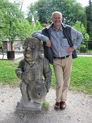 Georg Gimpl opiskelukaupungissaan Salzburgissa elokuussa 2009.
