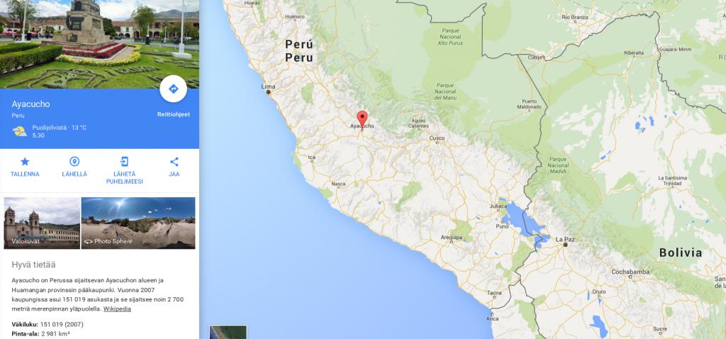Kartta: Google