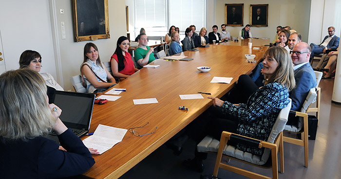 In June 2014 the director of the Vis East competition Louise Barrington gave a guest lecture on professional ethics in international commercial arbitration. The lecture was commented by Patricia Shaughnessy, who is the director of the ICAL programme and coordinating teacher of the Vis Moot course at the Stockholm University. The lecture was attended by researchers at the University of Helsinki, law students at of the faculty including exchange students and master's students, young lawyers from various parts of Europe participating another arbitration event in Helsinki and lawyers from the arbitration community in Helsinki. After the lecture Louise Barrington and Patricia Shaughnessy joined the info session about next year's moot project.