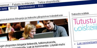Helsingin yliopiston blogisivu