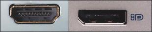 HDMI ja Displayport-liitännät koneessa