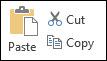 cut-, copy- ja paste-napit word-ohjelman työkaluriviltä